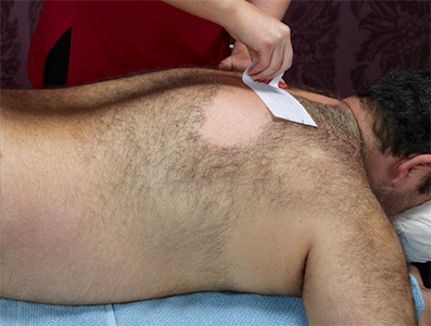 back hair waxing