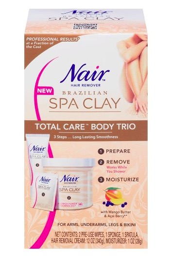Nair Brazilian Spa Clay Total Care Body Trio