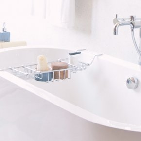 Photo of bathtub with shaving products