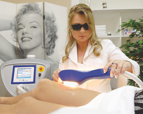 IPL hair removal in a salon