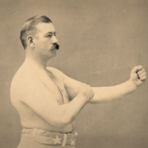 Photo of 19th-century boxer John L. Sullivan