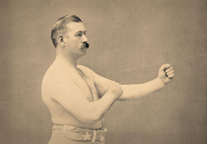 Photo of 19th-century boxer John L. Sullivan